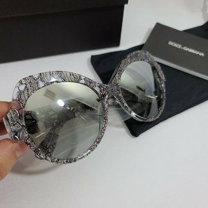 Dolce & Gabbana 56mm Butterfly Sunglasses NIB